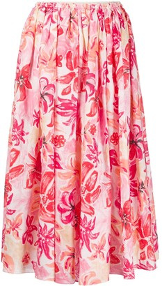 Marni Bossa Print Midi Skirt