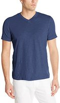 Mod-o-doc Men's Short Sleeve El Porto High V-Neck Vintage Fit Slub Jersey T-Shirtt