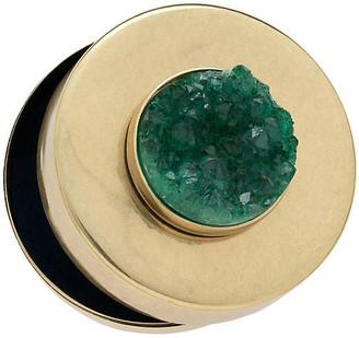 Joanna Buchanan Drusy Jewelry Box - Antiqued Brass/Emerald