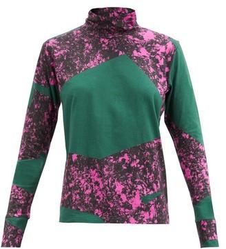 Colville - Alphabet-print Roll-neck Cotton-jersey Top - Green
