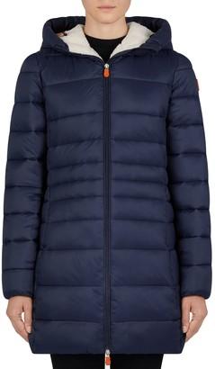 Save The Duck Fleece-Lined Puffer Jacket - Giga