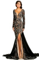 Johnathan Kayne 8009 Fitted Lace Mermaid Gown with Train