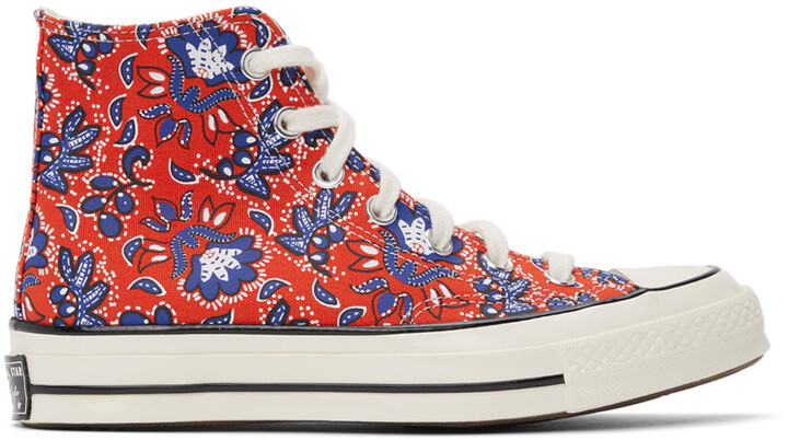 Thumbnail for your product : Converse Red Culture Prints Chuck 70 Hi Sneakers