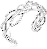 Zina Sterling Silver Wired Woven Cuff Bracelet, 2.2""