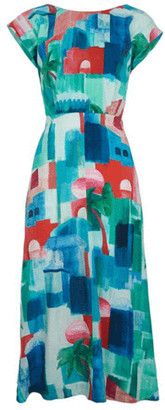 Emily And Fin Elodie Dress In Marrakech Landscape Print - 8