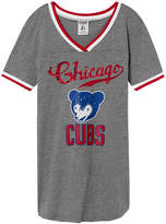 PINK Chicago Cubs Bling Perfect V-Neck Tee