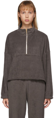 Gil Rodriguez SSENSE Exclusive Brown Terry Diana Half-Zip Sweatshirt