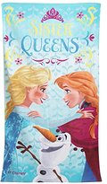 Disney Frozen Childrens Girls Sister Queens Printed Beach Towel (28in x 56in) (Multi Colored)
