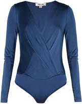 Diane von Furstenberg Long sleeved wrap-effect bodysuit