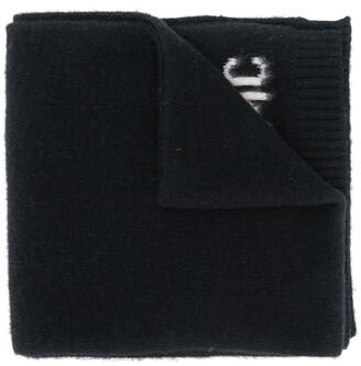 Oamc Logo-Jacquard Textured Scarf