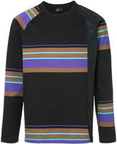 Kolor asymmetric striped sweatshirt