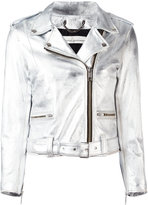Golden Goose Deluxe Brand 'Chiodo' metallic jacket - women - Cotton/Leather/Viscose - S