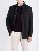 Corneliani Checked wool coat