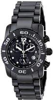 Swiss Legend Women's 10128-BKBD Chronograph Diamond Black Ceramic Black Dial Watch