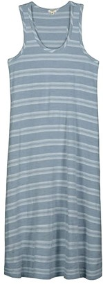True Grit Dylan by True Blues Long Tank Dress in Trestle Stripe (Chambray) Women's Clothing