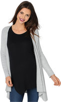 Design History Maternity Draped Open-Front Cardigan
