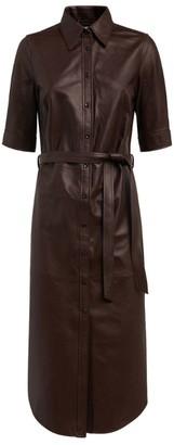 Frame Leather Shirt Dress