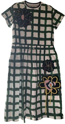 Mira Mikati Green Cotton Dress for Women