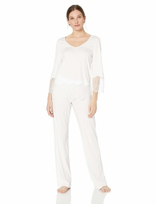 Hanro Women's Valea Long Sleeve Pajama Set