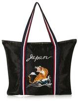 Topshop Embroidered Tiger Shopper - Black