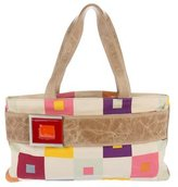 Marni Leather-Trimmed Canvas Handle Bag