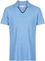 Orlebar Brown plain short-sleeved polo shirt