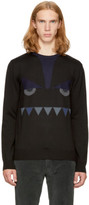 Fendi Black bag Bugs Crewneck Sweater