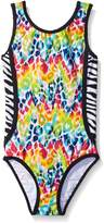 Limited Too Big Girls Cheetah/Zebra One-Piece Swimsuit