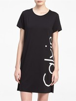 Calvin Klein Logo T-Shirt Dress Cover-Up