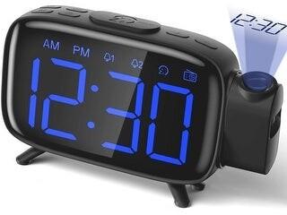 Etcbuys Projection Alarm Clock Radio Alarm Clock Digital with Power Adapter