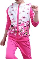 MRSMR Kids Girls Spring Tracksuit Hooded Hoodie Top +Pants Outfits 140