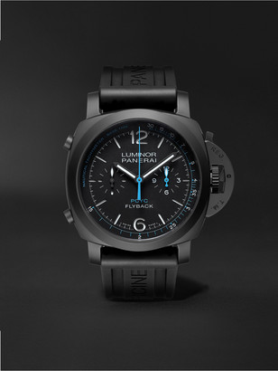Panerai Luminor Yachts Challenge Automatic Flyback Chronograph 44mm Ceramic And Rubber Watch