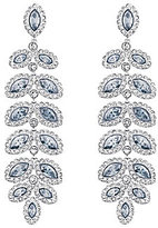 Swarovski Baron Crystal Pave Chandelier Statement Earrings
