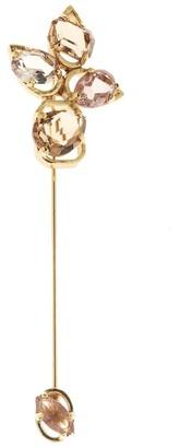 Oscar de la Renta Crystal Offset Brooch