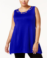 Belldini Plus Size Embellished Tunic
