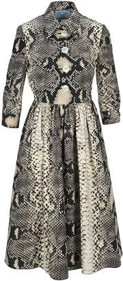 Prada Animal Print Midi Dress