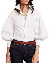Lauren Ralph Lauren Bishop Sleeve Cotton Shirt