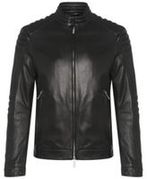 Hugo Boss Narveyn Lambskin Biker Jacket 38R Black