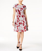 Alfani Printed Floral Fit and Flare Dress, Created for Macy's