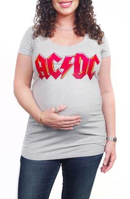 Vip Mama AC/DC Maternity Graphic Tee