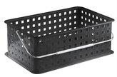 InterDesign 14 by 9 by 5-Inch Basic Basket, Medium, Black