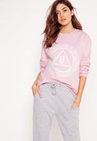 Missguided Graphic Sweatshirt Pink