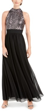 Jessica Howard Petite Sequin-Top Gown