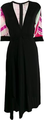 Emilio Pucci printed deep-V midi dress