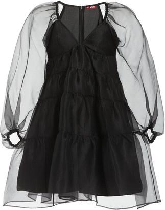 STAUD Meadow Crinkled Organza Mini Dress