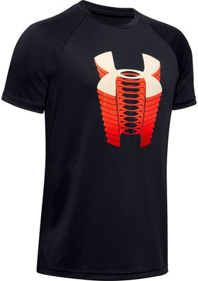 Under Armour Boys' UA Tech Glow Gradient Logo Short Sleeve