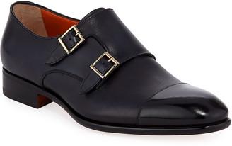 Santoni Men's Innocent Double-Monk Loafers