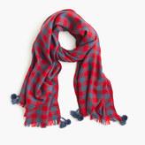 J.Crew Yarn-dyed wool scarf in buffalo check