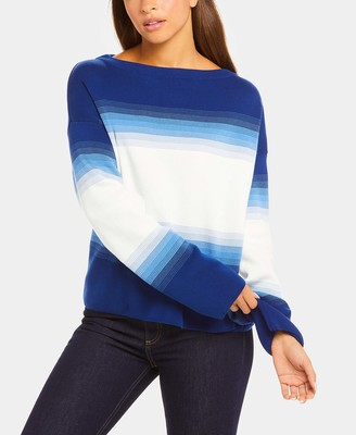Lacoste Women's Long Sleeve Ombre Boatneck Sweater