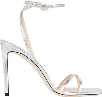 Jimmy Choo Metz 100 Metallic Leather Sandals